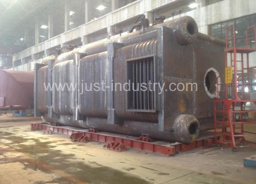 D type gas/oil fired pcakage water tube boiler